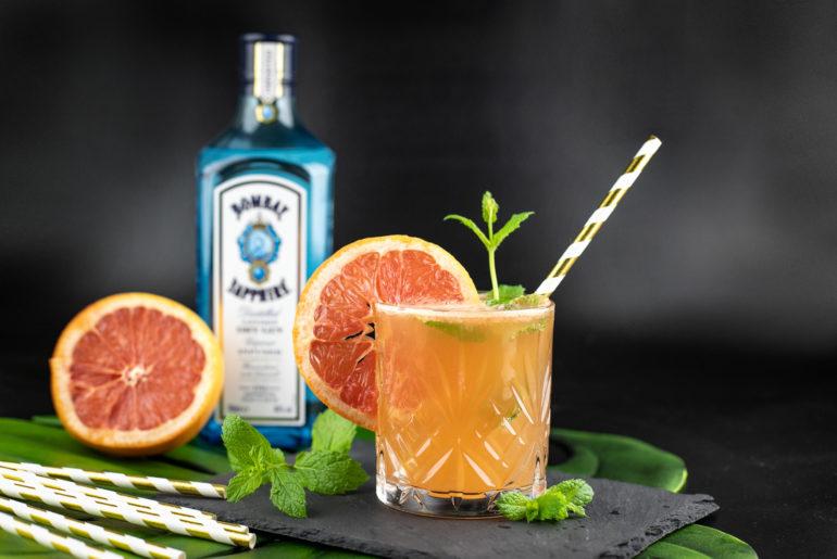 Grapefruit Bombay Gin mit Minze
