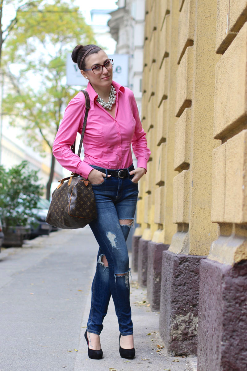outfit-blouse-pink-blusen-body-jeans-louis-vuitton-1