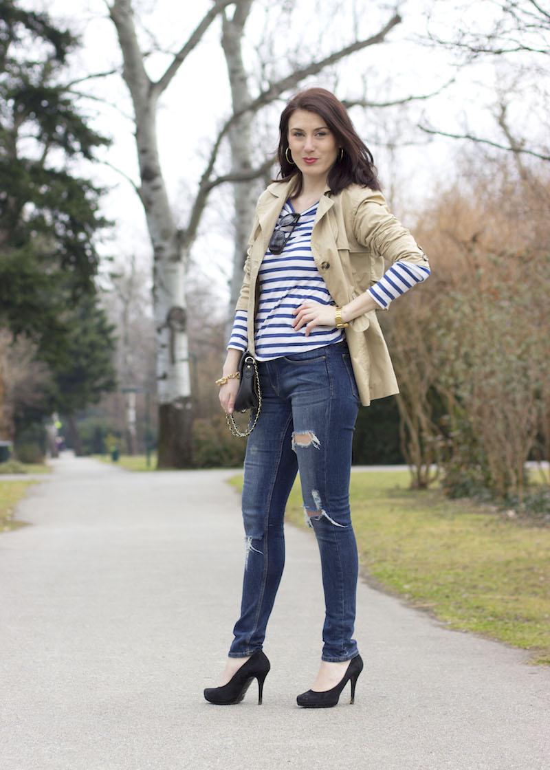 stripes-streifen-jeans-fetzenjean-buffalo-pumps-donaupark-trenchcoat