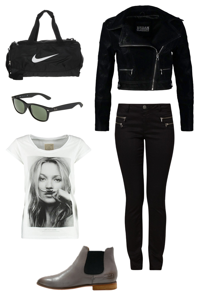 schwarz-black-skinny-jeans-eleven-paris-kate-moss-mustace-rayban-nike-lederjacke-bikerjacke-chelsea-boots-grau-grey